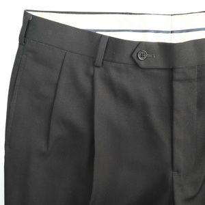 Brooks Brothers Madison Black Wool Dress Pants